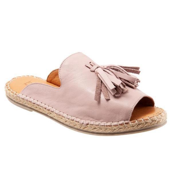 Casual Peep Toe Tassel Flat Sandals