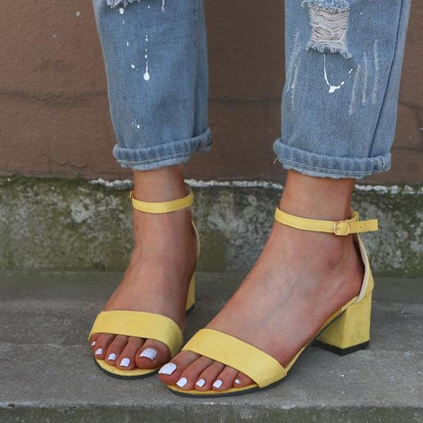 Women Chunky Heel Buckled Sandals