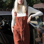 Loose Solid Color Jumpsuit