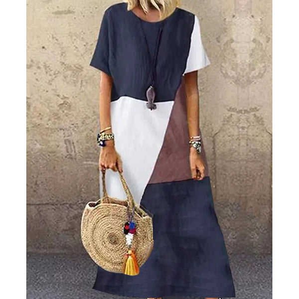 Casual Round Neck Maxi Dresses