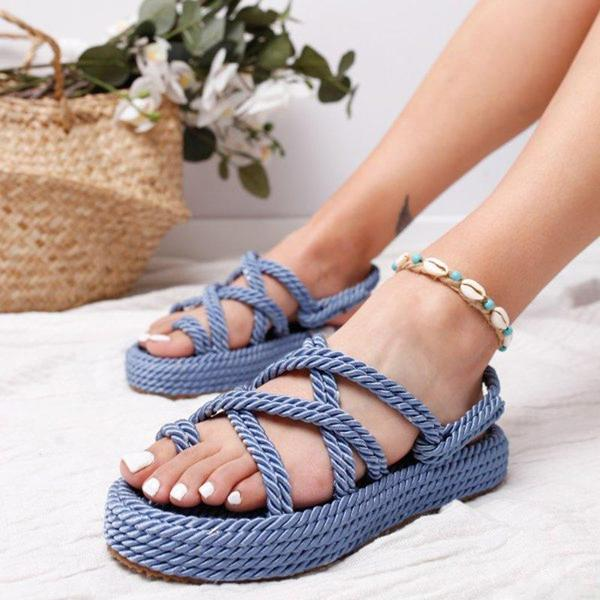 Casual Women's Lace-up Criss-Cross Sandals