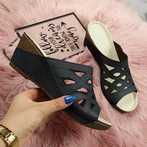 Casual Women Chunky Heel Elegant Comfy Sandals