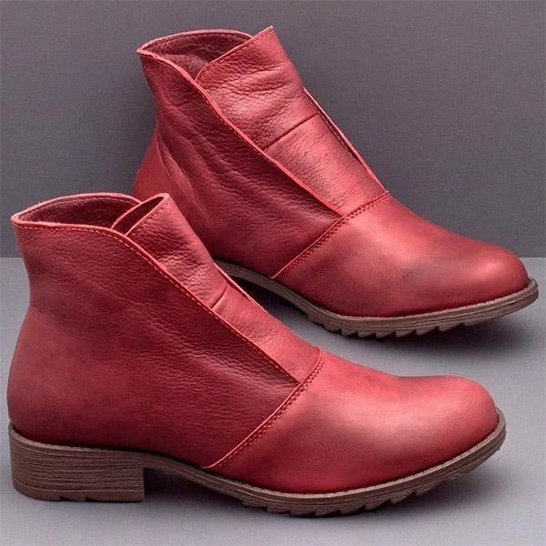 Women's Casual Low Heel Muff Martin Boots