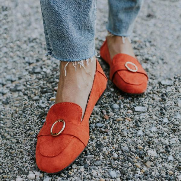 Suede Lightweight Slip On Flat Loafers