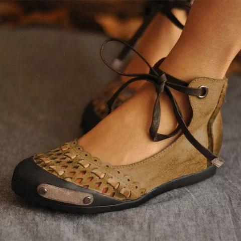 Hollow-out Flat Heel Daily Shoes