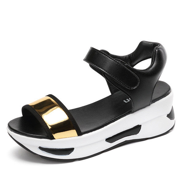 Casual Sport Fashion Platform Sandals Rocker Bottom Shoes - MagCloset