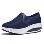 Large Size Breathable Mesh Casual Sport Platform Rocker Bottom Shoes