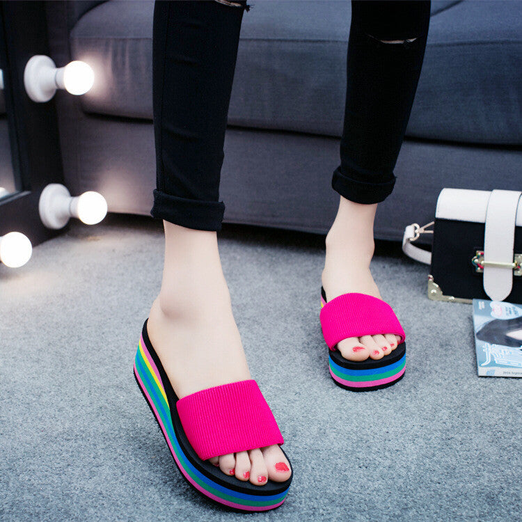 Summer Platform Home Beach Non-slip Slippers Beach Sandals