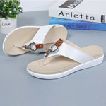 Women Summer Fashion Contrast Color Flat Sandals Flip Flops