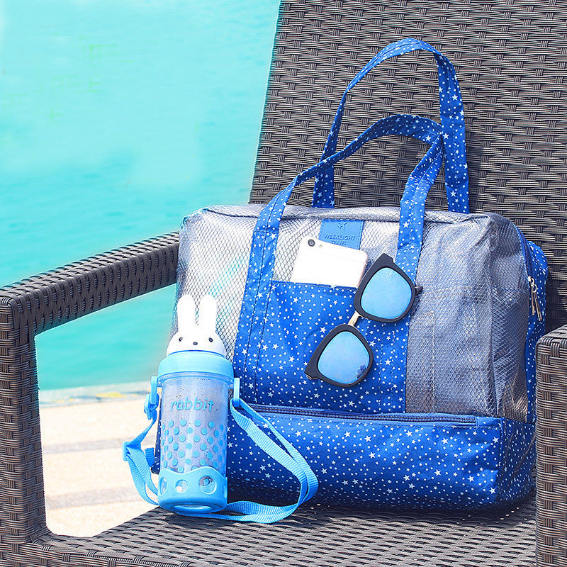 Beach Travel  Swimming Bag and Wet Separation Large Capacity Bathing Swimming Wash Bags