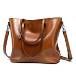 MagCloset Retro Oil Wax Leather Tote Bag