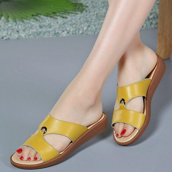 Clearance Simple Fashion Summer Women Soft Sole Antislip Sandals Slippers - MagCloset
