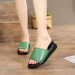 Size 5-12 Genuine Leather Simple Fashion Womens Sandals Slippers