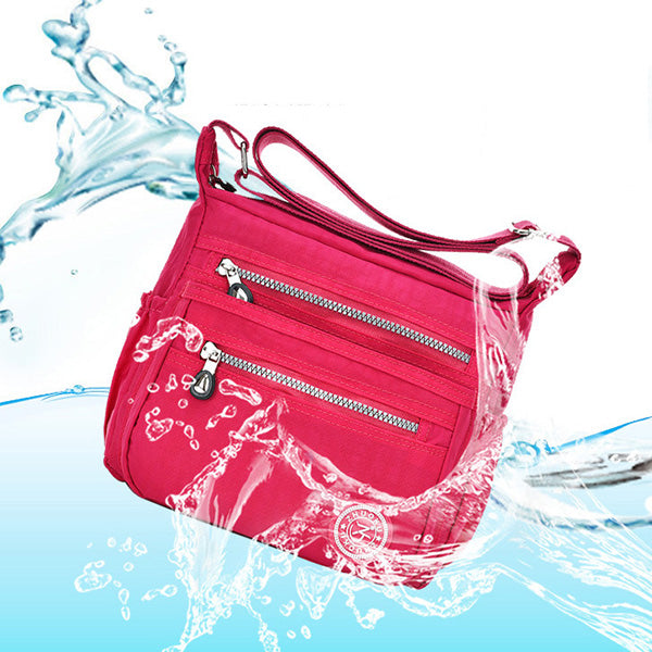 Women Nylon Waterproof Lightweight Shoulder Bag Crossboby Bag
