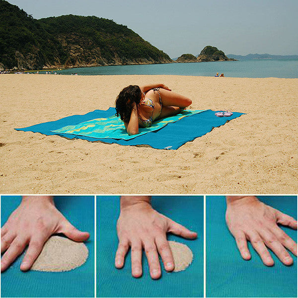 Camping Pocket Mat Outdoor Large Summer Beach Sand-Free Folding Mat