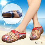 NEW Summer Hollow Out Flax Slippers Non-slip Ethnic style Thick Bottom Flats Sandals