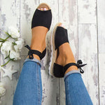 Fashion Platform Lace Up Sandals