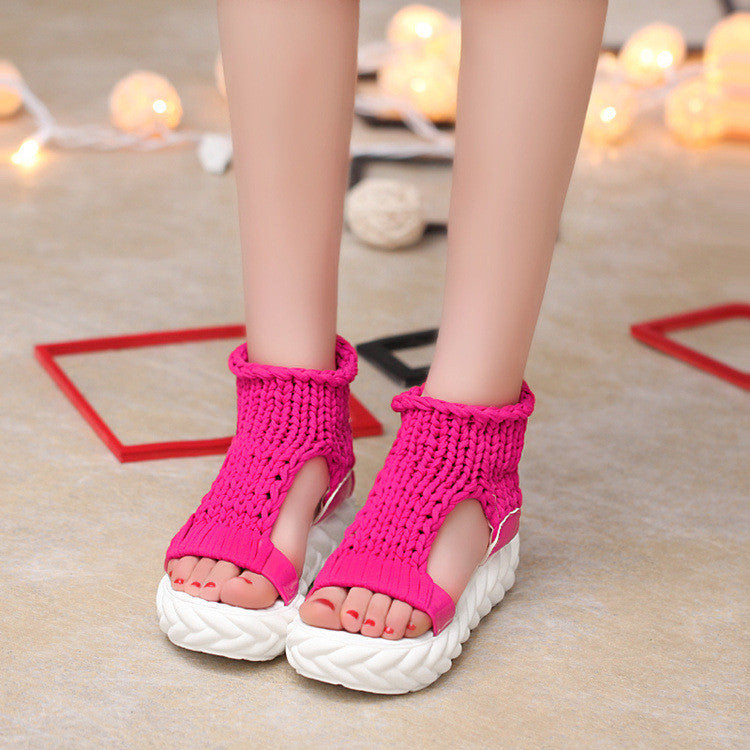 Women Summer Shoes Sandals Platform Flipflops Gladiator Bottom Shake Women Shoes