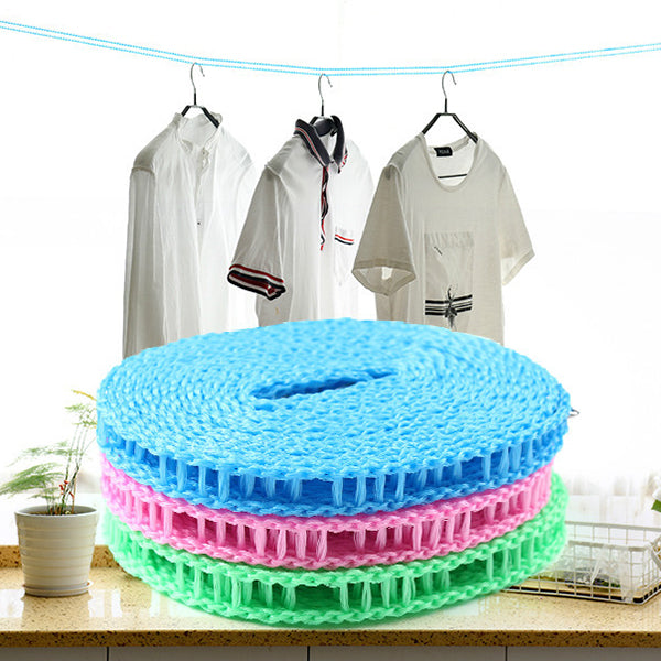 CLEARANCE-5m Adjustable Strength Nylon Durable Anti Slip Drying Clothes Hangers Rope Clotheslines - MagCloset