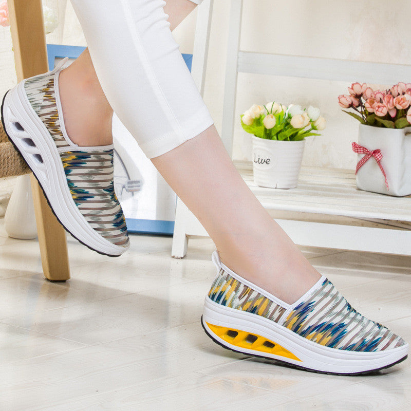 2017 Fashion Women's Fitness Shoes Casual Sport Shoes Lady's Mesh Shake Shoes Slip on Shoes - MagCloset
