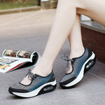 Breathable Mesh Casual Sport Lace Up Platform Rocker Bottom Shoes