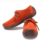 New Fashion Leather Lace Up Leisure Snail Shoes For Women