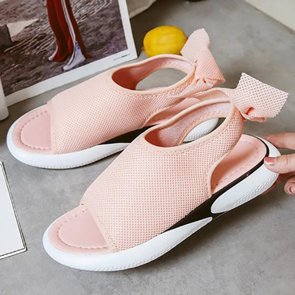 Casual Mesh Breathable Bowknot Embellished Sandals