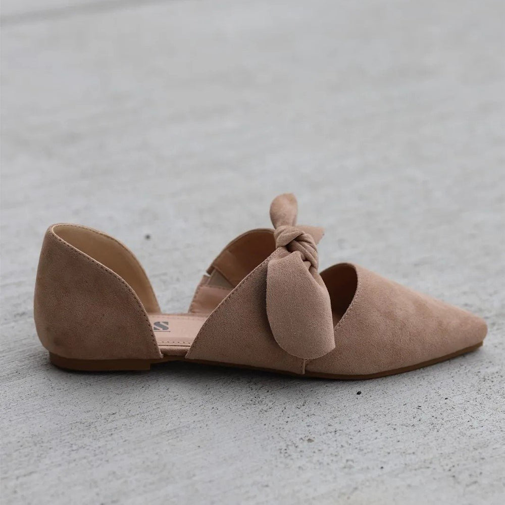 Fashion Pointed Toe Bow Flat Shoes