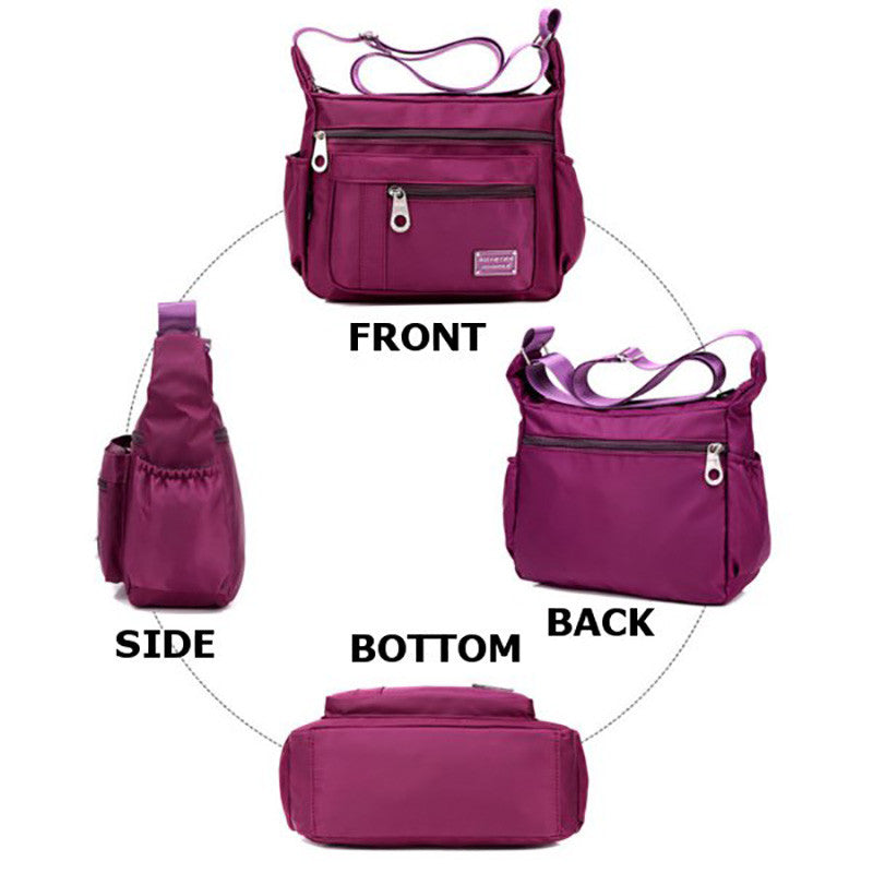 Women Nylon Waterproof  Casual Sports Lightweight Shoulder Crossbody Bags