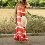 Stripe Printed Sleeveless Loose Dress