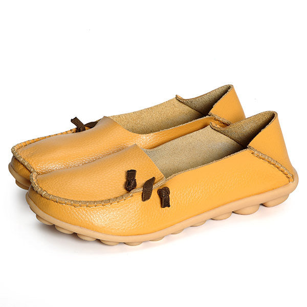 Women fashion Comfortable Soft Casual Leather Flat Shoes