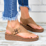 Large Size Wedge Toe Sandals
