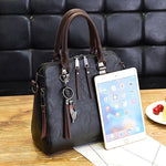 Vintage Leather Totes Tassel Crossbody Shoulder Boston Handbags