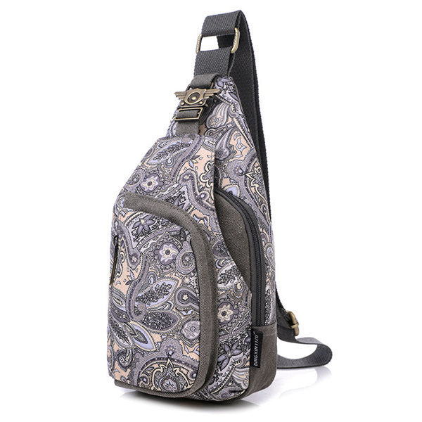 Women Flower Pattern Portable Casual Shoulder Bags Chest Bags