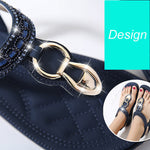 Women Summer Bohemian Metal Beads With Clip Toe Sandals
