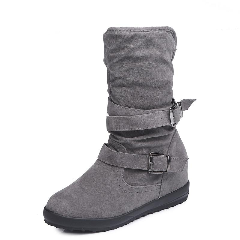 Artifical Suede Fur Lining Winter Boots