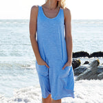 Round Neck Sleeveless Casual Sundress