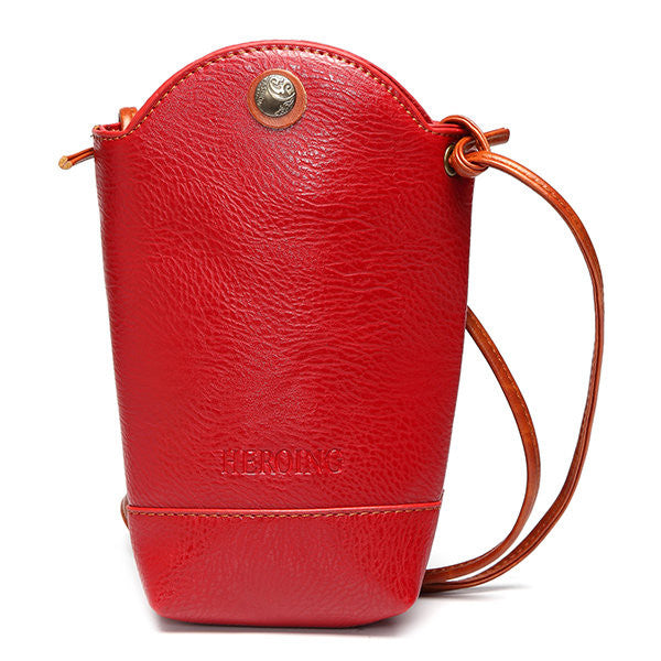 Woman Irregular Little Phone Bag Casual PU Crossbody Bag Bucket Bag