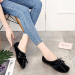 Soft Leather Slip On Lazy Flat Loafers