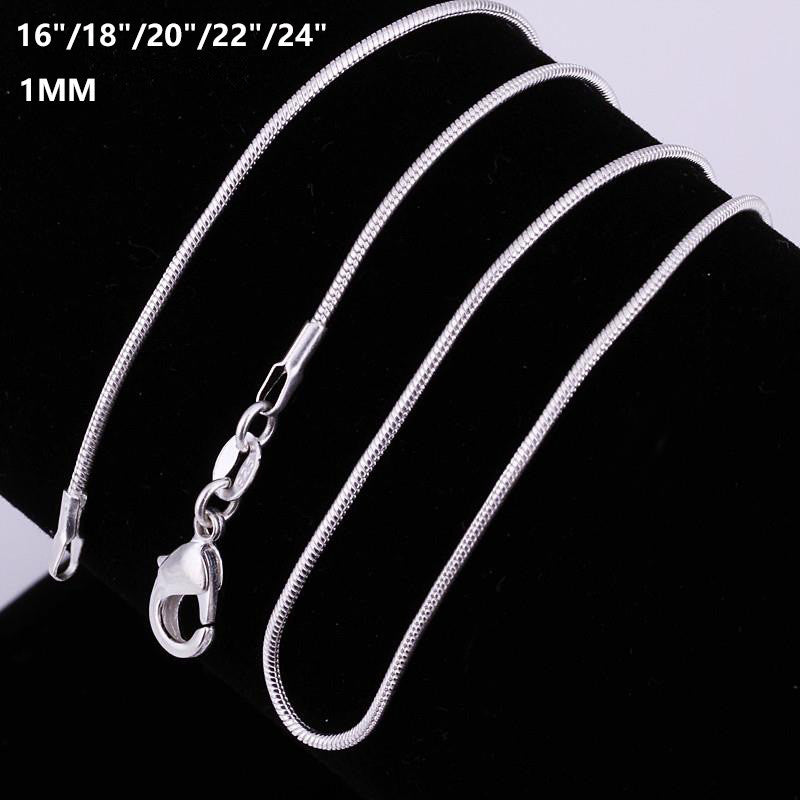 Fashion Different Sizes Silver Snake Chains Necklace
