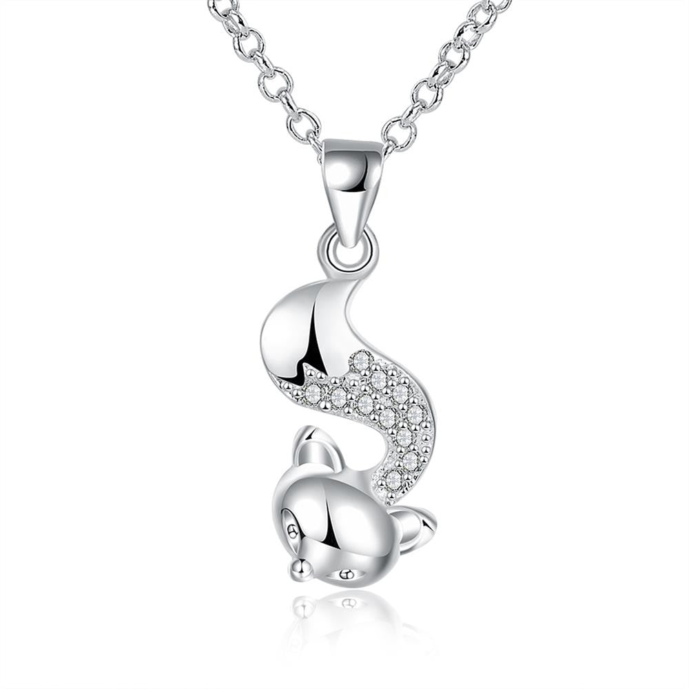 Fox Shape Pendant with Zircon Fashion Necklace - MagCloset