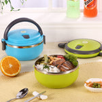 CLEARANCE-Stainless Steel Lunch Box Portable Bento Food Containers Dinnerware Set