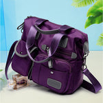 CLEARANCE-Women Waterproof Nylon Large Capacity Multi Pocket Multi-functional Handbag Crossbody Bag