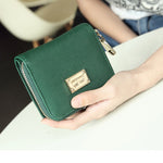 Women Short PU Wallet With Multi Card Slots Coin Purse