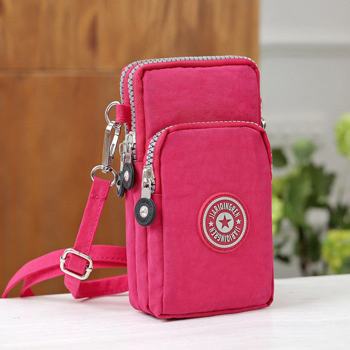 Casual Sport Bag Detachable Strap Arm Three-Layers Shoulder Bag