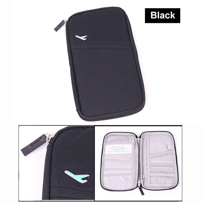 Portable Multifunctional Travels Card Passport Ticket Holder Card Wallet