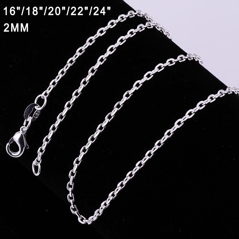 Hot Sale Fashion 18 Inches Silver Snake Chain Necklace - MagCloset