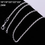 Hot Sale Fashion 18 Inches Silver Snake Chain Necklace