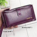 Women Men Ultrathin Leather Long Wallet Capcity Card Holder Phone Bags Coin Bags