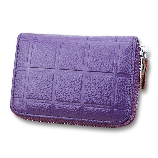 Genuine Leather 20 Card Slots Card Holders Coins Bags Purse For Women - MagCloset